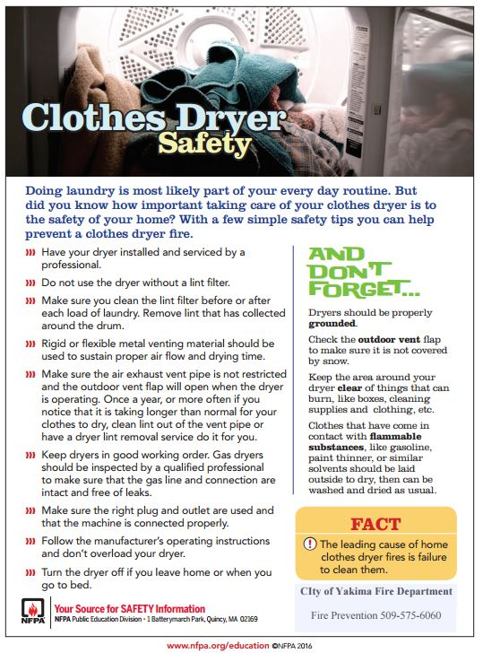 Dryer Safety Preventing A Fire Caused By A Dirty