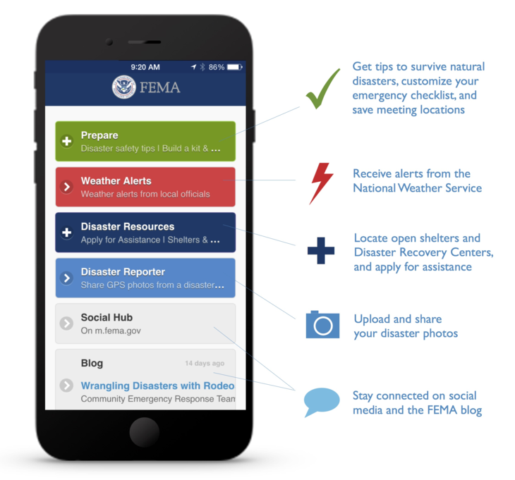 FEMA App for your smartphone to help when disaster strikes